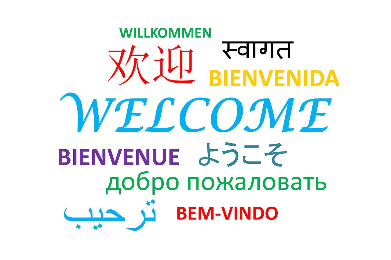 'Welcome' written in different langugaes