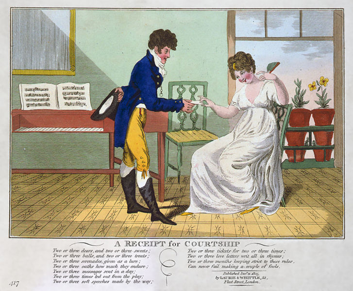 Victorian courting cartoon