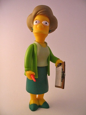 Doll of 'The Simpsons' character Edna Krabappel