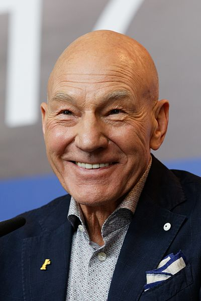 Actor Patrick Stewart, who plays Professor Xavier in the X-Men films