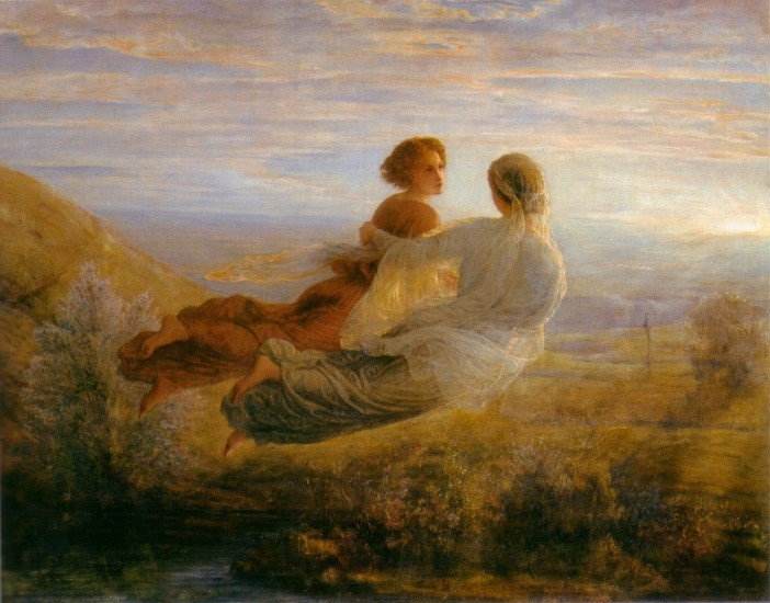Flight of the Soul painting by Louis Janmot