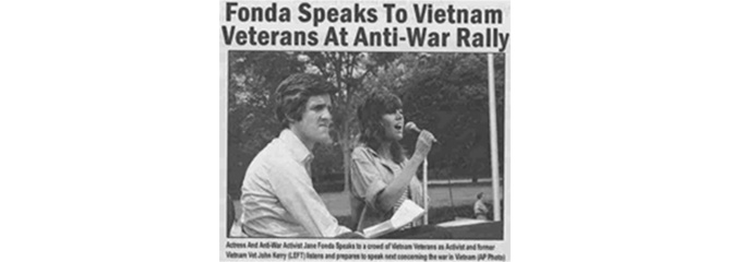 Faked photo of John Kerry at anti-war speech