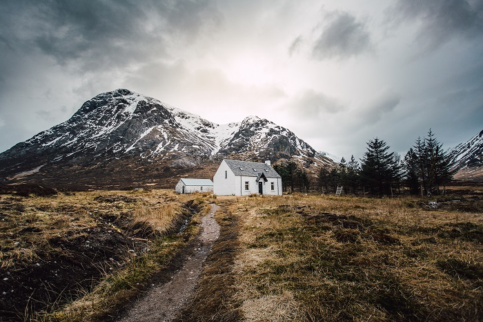 A rural cottage in Glencoe, Scotland