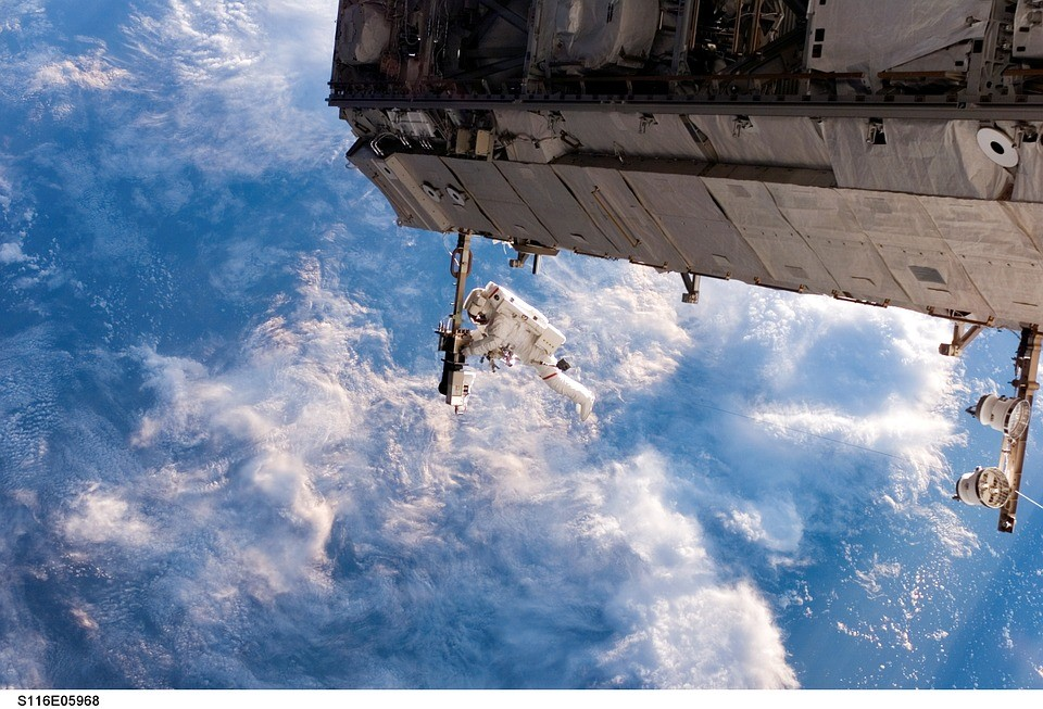 Astronaut doing a space walk