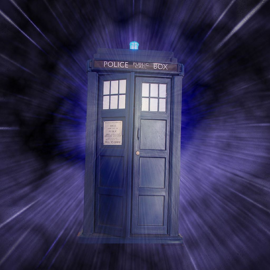 The famous Tardis time travel machine used in Dr Who. Image credit: aussiegal