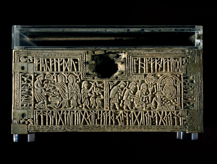 Franks Casket (front), probably Northumbria, c. 700