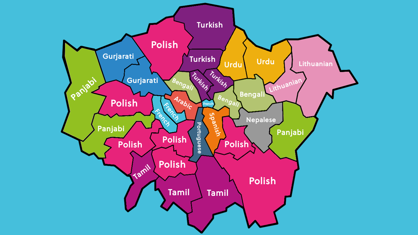 Second languages spoken in London