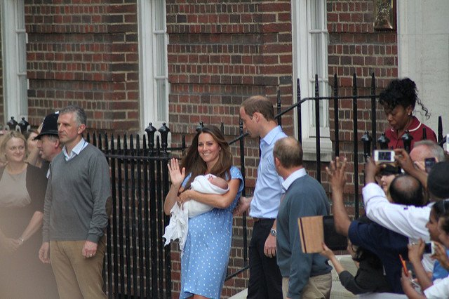Prince William and Kate with Prince George