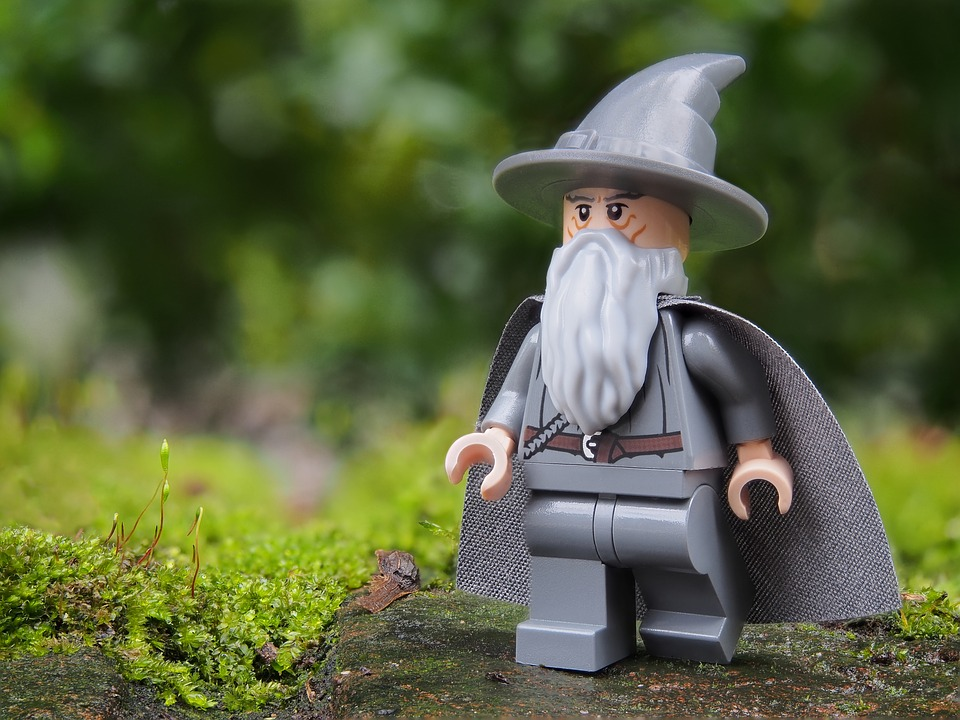 Figure of a wizard made of Lego